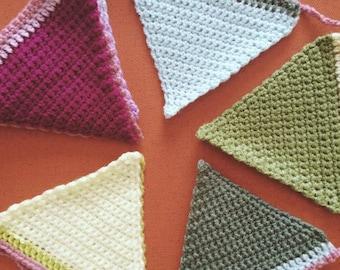 Crochet triangle bunting