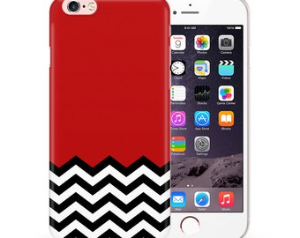 Phone Case Cover Fits For iPhone 5 5s SE 6 6s 6 plus 6s plus 7 7 plus TULLUN Designs Red Black & White Welcome To Twin Peaks Pattern