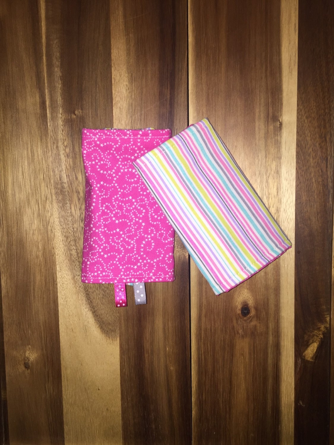 Ready To Ship Set Of Baby Drool Pads Fits Most By