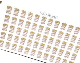 Popcorn/Movie Night Stickers