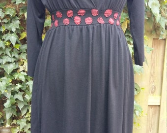 Black Jersey dress with long sleeve