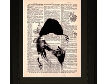 """Touch"""".Dictionary Art Print. Vintage Upcycled Antique Book Page. Fits 8""""x10"""" frame"""