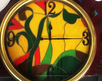 Stained Glass Wall Clock!