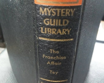 1949 delux first edition of The Franchise Affair by Josephine Tey printed as part of the mystery guild library