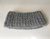 Gray Knit Ear Warmers Headband