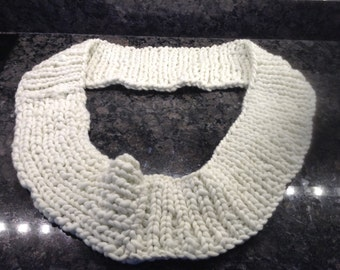 Super Bulky Infinity Scarf in Cream