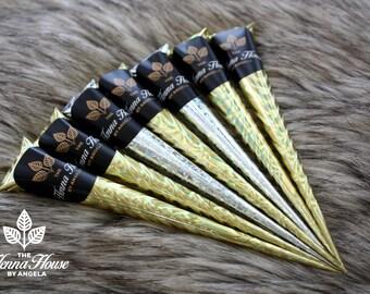 Seven 100% Natural, Fresh, & Dark Staining Henna Cones