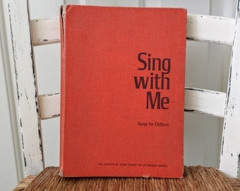 Vintage LDS Sing With Me Primary Songbook 1970 Mormon Music Book