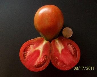 Heirloom Tomato- JAPANESE BLACK TRIFELE- 75 day black Indeterminate- 25 seeds