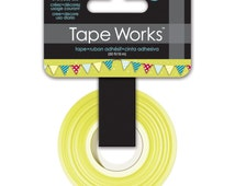 15mm Tape Works Mixed Color Banner Pattern Washi Tape. Weekend Banner. Banner Washi. Planner Washi.