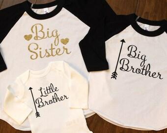 Big Sister Shirt, Big Brother Shirt, Little Brother Shirt, Sibling Shirts, New baby shirt, Sister Brother Shirts, Sister Shirt, Brother