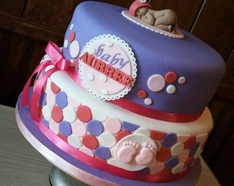 Baby Shower Cake Topper Set-Fondant
