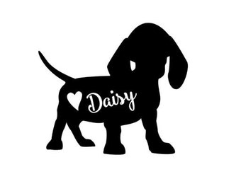 Dachshund Decal // personalized dachshund decal // dachshund car decal // dog decal // personalized dachshund