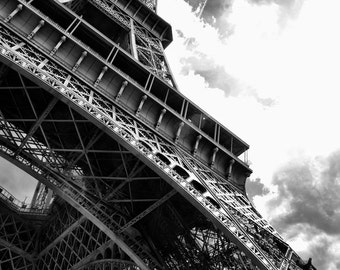 La Tour Eiffel - Eiffel Tower - Black and White - Paris - France - Photo - Print
