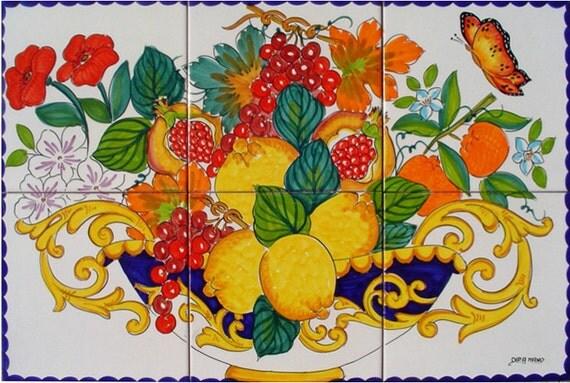 dipinti a mano piastrelle di ceramica fruit bowl frutta - Pittura Su Piastrelle Di Ceramica