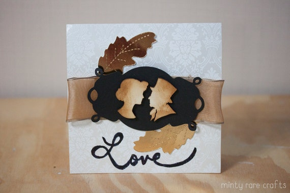 Vintage Love: Husband & Wife Wedding Card