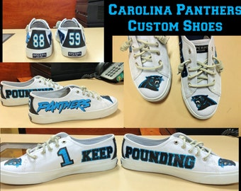 Custom Hand Painted Carolina Panthers Shoes