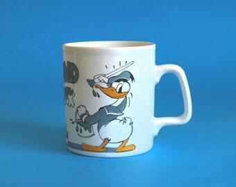 Donald Duck and Minnie Mouse 1979 Kiln Craft Mug - Vintage Retro Walt Disney Mug - Donald Duck Painting - Made in England