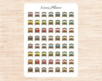 Mini Bed (matte planner stickers, perfect for planners)