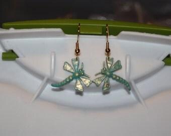 Painted Dragonfly Earrings
