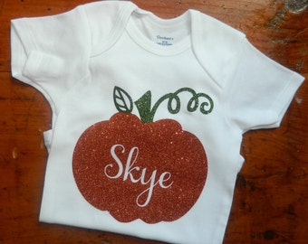 Personalized Pumpkin Bodysuit
