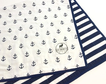 Nautical Anchor Baby Quilt