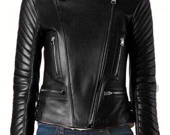 BNWT STALLION Women's LAMBSKIN Leather  Jacket ST070