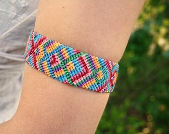 Macrame tribe bracelet collar foot band aztek