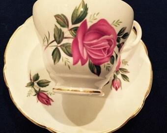 Consort English Tea Cup and Saucer