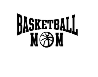 Basketball Mom SVG File.  For Silhouette or Cricut Machines.  For use with HTV, Oracle 631/651, Paper cutter file