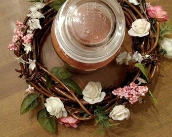 Floral Candle Wreath