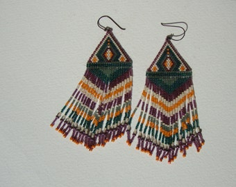 Earrings Indian style navajo, ethnic, bohemian, gipsy