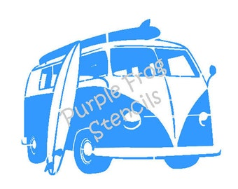 VW Bus STENCIL (Reusable) Different Sizes Available Approx Image Size Heavy Duty