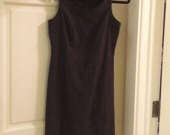 vintage gingham jumper dress