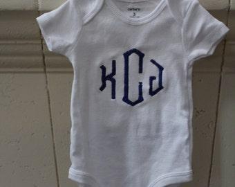 personalized onesie- custom monogram bodysuit- initial outfit- baby girl- baby boy- long sleeve- short sleeve
