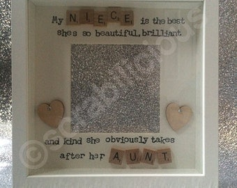 Scrabble Frame Niece Aunt