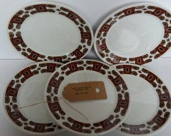 J&G Meakin Maori Side Plates (set of 5)