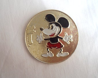 Mickey Mouse, Badge, Character from soviet cartoon, Vintage collectible badge, Soviet Vintage Pin, Made in USSR