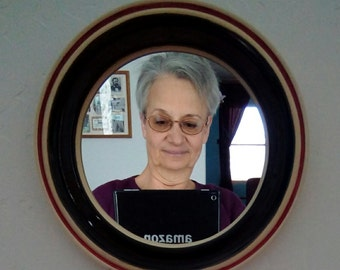 Mirror with Pottery Frame, Handmade Pottery Frame with Mirror