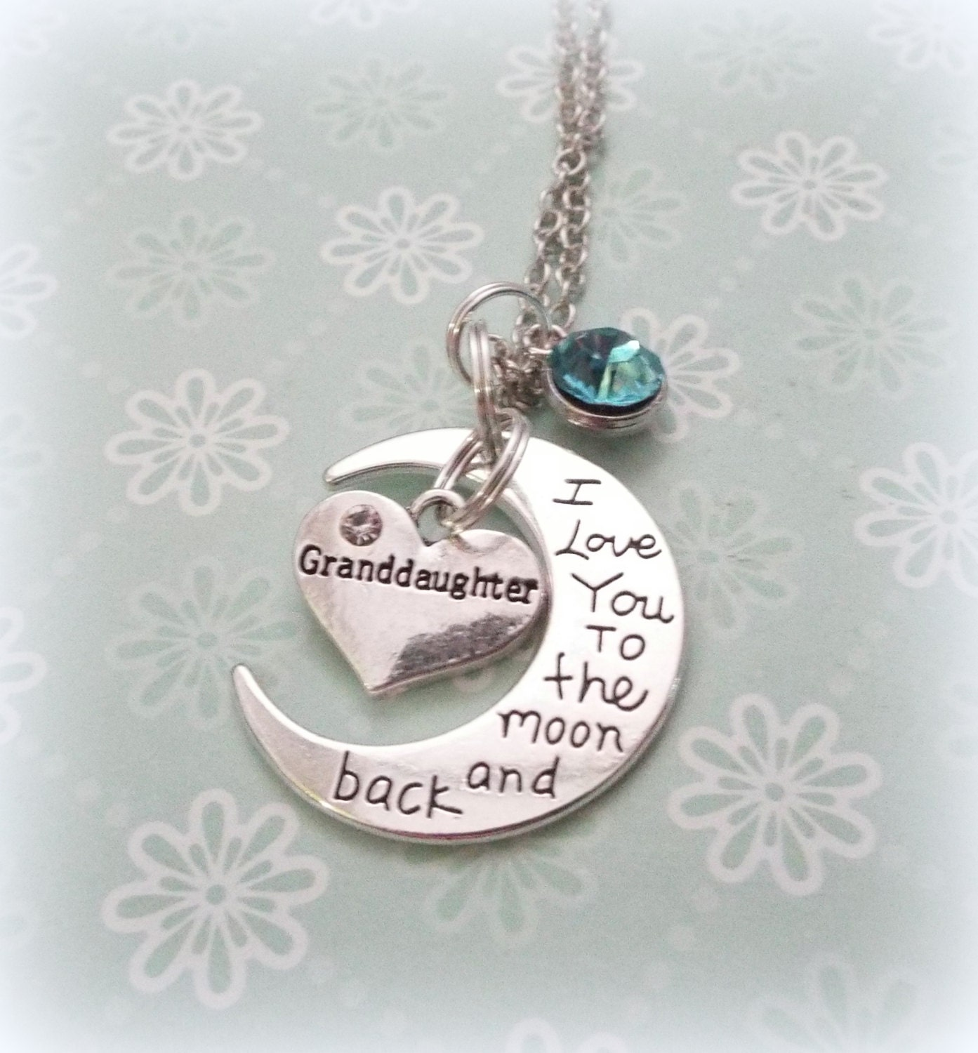 Wedding Gift For Granddaughter : and Back Birthstone Necklace, Gift for Granddaughter, Daughter Gift ...