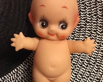 Adorable Vintage Plastic/Vinyl Drugstore Kewpie Doll