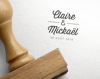 Wedding Custom Wooden Stamp Minimalist