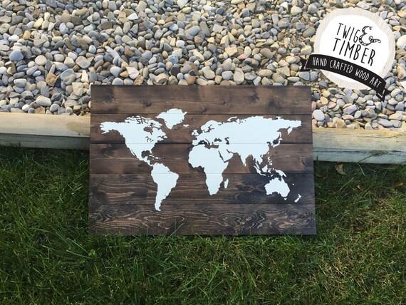 World Map - CUSTOM COLOR CHOICES  - 2 week Turnaround!