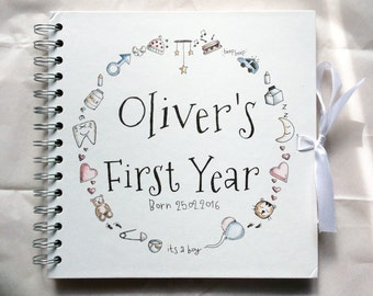 Personalised New Baby / My First Year Scrapbook