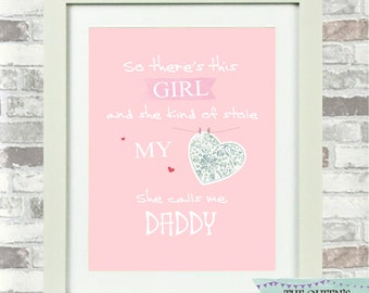 So There's This Girl Baby Girl Nursery Print