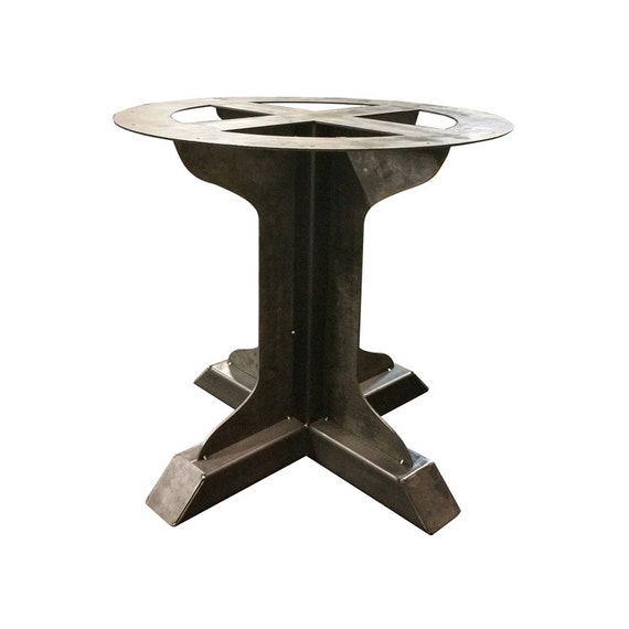 pedestal tables single metal pedestal welded fin support table leg round table