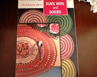 Vintage Crochet Patterns ~ Coats and Clark's Place Mats and Doilies in the Contemporary Manner Book No. 315