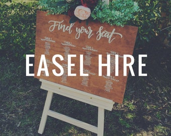 Easel hire - Natural wood
