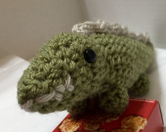 Crocheted Alligator, Amigurumi Alligator, Crocheted Amigurumi, Stuffed Alligator, Toy Alligator