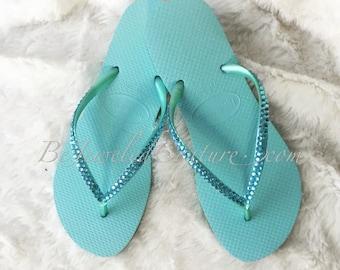 Swarovski Embellished SLIM Havaianas Sandals